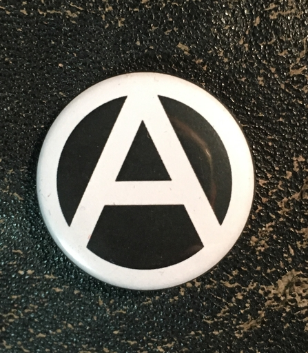 "Anarchy A - 1"" pin"