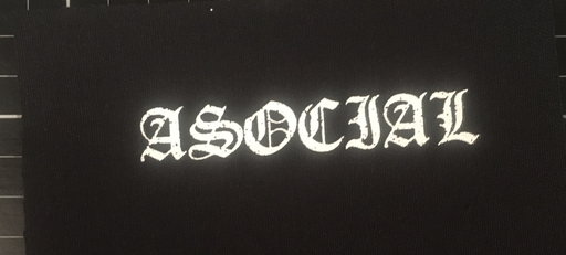 Asocial, logo - patch