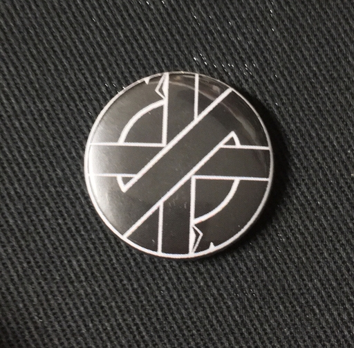 "Crass, logo - 1"" pin"