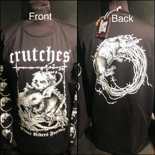 Crutches, Chaos Riders Forever - long sleeve