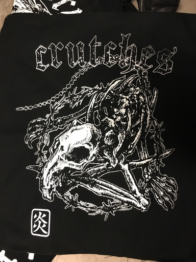 Crutches, Crude rat - backpatch