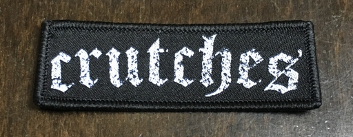 Crutches, embroidered logo - patch