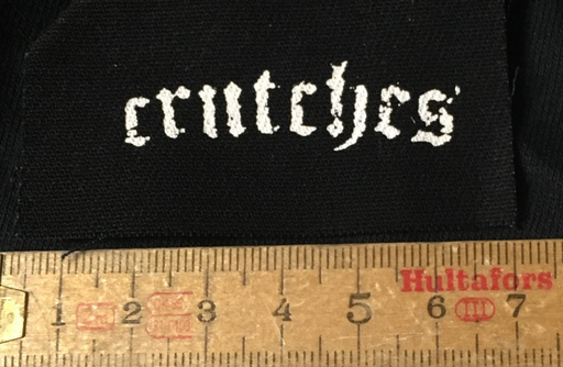 Crutches, old eng. logo mini - patch