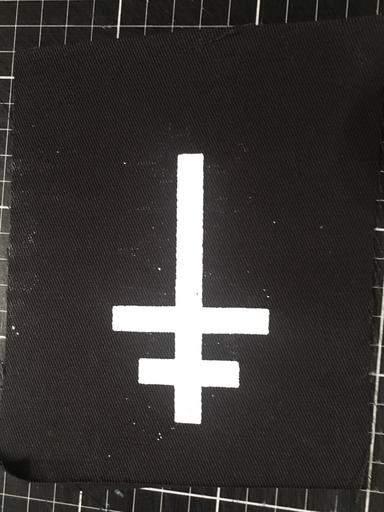 Inverted partriarchal cross - patch