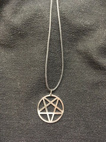 Inverted pentagram, 2.0 - necklace
