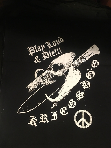 Kriegshög, Play loud & die- backpatch