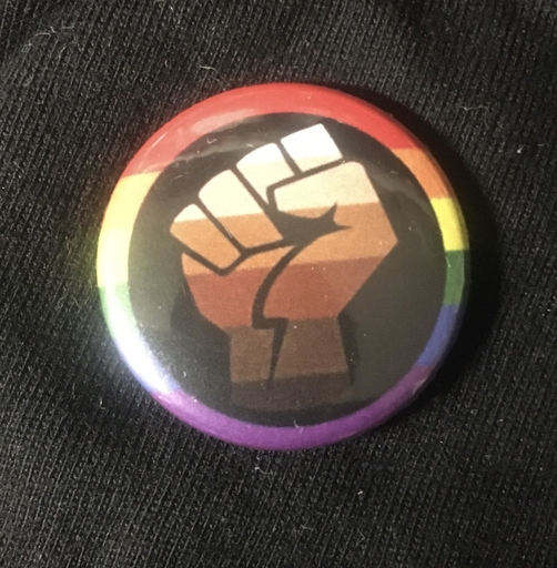 "Pride fist- 1"" pin"