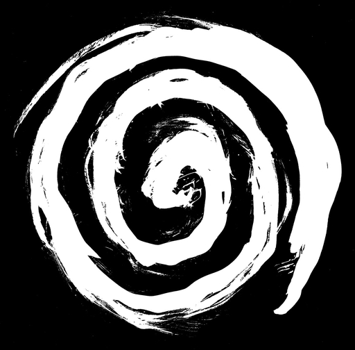 Voidfiller, WHITE spiral small - patch