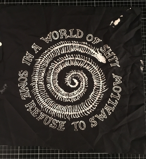 Voidfiller, in a world of shit some refuse to swallow - back patch